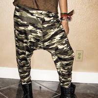 No Credit Cards Unisex Military CAMO Camoflauge Harem Pants by Wasss Gucci XS S M L