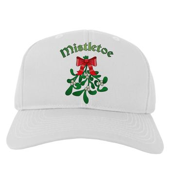 Christmas Kiss Mistletoe Adult Baseball Cap Hat