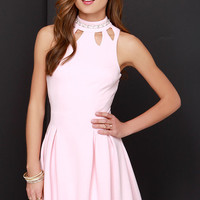 Jewel-House Rock Peach Rhinestone Dress