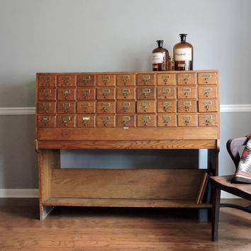 CLEARANCE Libraco Limited of London Oak Card Catalog