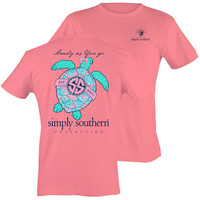 Simply Southern Preppy Pink Sea Turtle T-Shirt