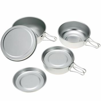 Aluminum Lids and Pots Small Cookware with Good Heat Conductivity for Camping Outdoors