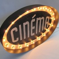 CINEMA Light Up Marquee Sign