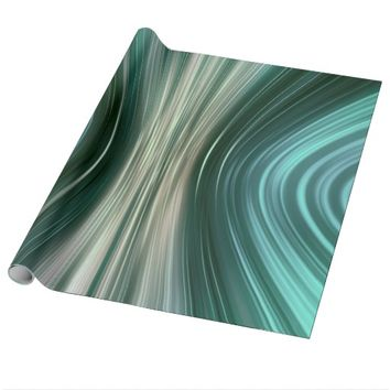 Glacier Green Driving Dreams Wrapping Paper