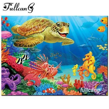 5D Diamond Painting Sea Turtle Kit