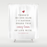 Crazy-Train of Life  Shower Curtain by HopSkipJumpPaper