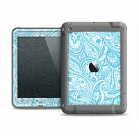 The Light Blue Paisley Floral Pattern V3 Apple iPad Air LifeProof Fre Case Skin Set