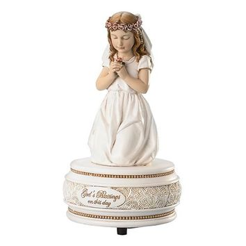 First Communion Musical Figurine