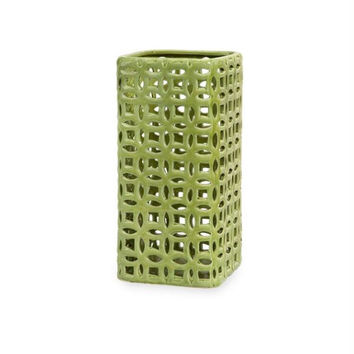 Ceramic Vase - Green Glaze