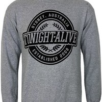 Tonight Alive Crest Heather Grey Men's Sweatshirt - Buy Online at Grindstore.com