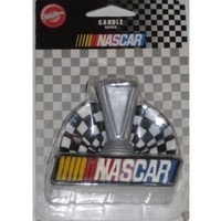 Nascar Candle Trophy Checkered Flag Unique Rare Wilton