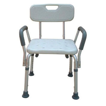 Adjustable Height Bath Bench with Back & Padded Arms