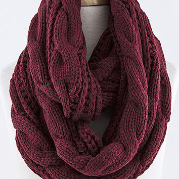 Cable Knit Cozy Infinity Scarf