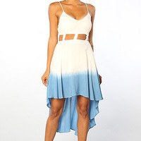 The Dip Dye Cutout Dress in Blue
