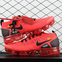 "Off White x Nike Air Vapormax 2 Flyknit 2018 ""Red"" 942843-501"