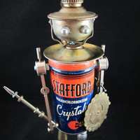 Stafford Bot - found object robot sculpture assemblage