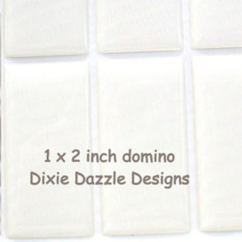10 domino seals 25x50mm (1x2 inch) DOMINO size clear epoxy stickers, domed cover cabochon for pendant jewelry