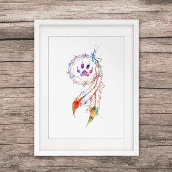 Native American Painting Watercolor Print Wall Hanging Art Pictures Wall Art Print Poster Creative Gift Home Decor No Frame