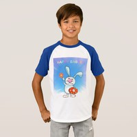Happy Easter Cute Bunny Kids' Raglan T-Shirt