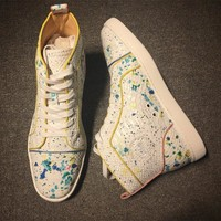 Christian Louboutin CL Python Style #2279 Sneakers Fashion Shoes Best Deal Online