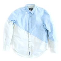 KITH Barrow Snap-Up Shirt - Vintage Wash / Off-White | Apparel | Kith NYC