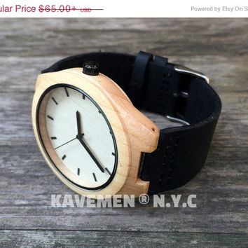 SALE Minimalist Wood Watch. Personalized Watch. Mens Wood Watch. Wooden Watch. Watches. Watch. Mens Gift. Black Knight. Kavemen. Manhattan