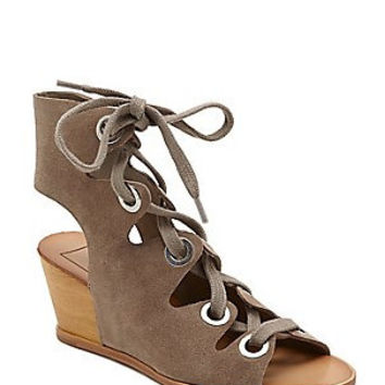 Lei Lace Up Wedge