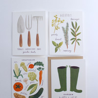 Homegrown Herbs Garden Card Set of 8