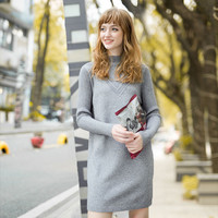 Women's Fashion Sweater Winter Pullover High Neck Long Sleeve Bottoming Shirt [8889011334]