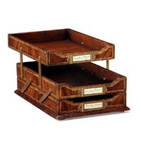 Home Accessories Mahogany Letter Tray with folding