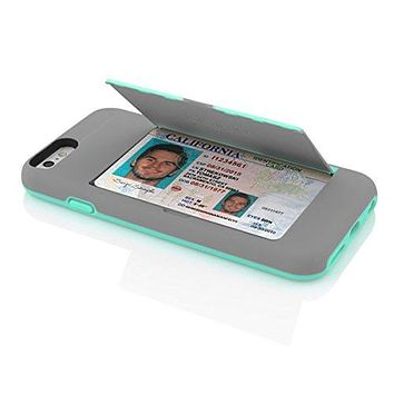 The Gray and Teal Credit Card STOWAWAY Case for iPhone 6/6s