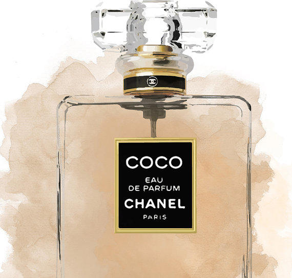 coco chanel perfume chanel illustration from. Black Bedroom Furniture Sets. Home Design Ideas