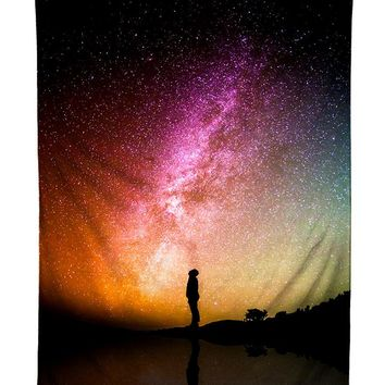 Reflection Rainbow Galaxy Tapestry
