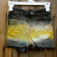 Baby's Yellow and Gray High Waisted Shorts