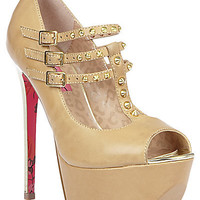 BetseyJohnson.com - BABBETE NUDE LEATHER