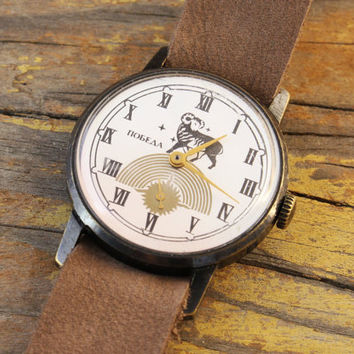 Vintage Pobeda Zodiac Aries mens watch russian watch ussr cccp