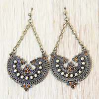 Brass Darjeeling Earrings - Earrings