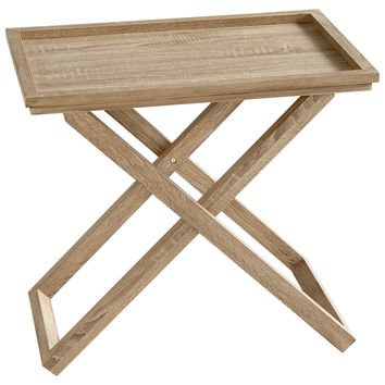 Savannah Oak Veneer Tray Table by Cyan Design