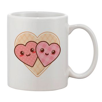 Super Cute Kawaii Hearts Printed 11oz Coffee Mug