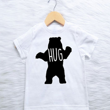 ALL SIZES Customizable COLORS  gift baby newborn new arrival welcome home bear hug trendy hip clothes tees shirts tshirt
