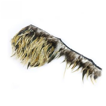 Pheasant Feather Trim Width 10-15CM, 4-6in Rooster Feather Ribbon Cosplay DIY Crafts Clothing Sewing