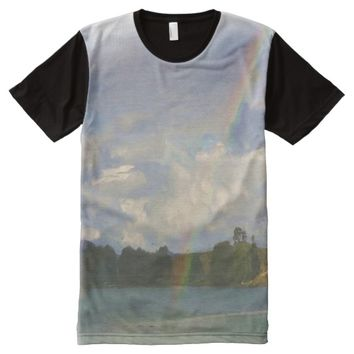 Photo of nature and rainbow with oil paint effect All-Over-Print shirt