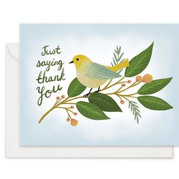 Chirping Bird - Thank You Card