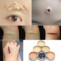 IMAGIC makeup for halloween Set Special Effects Stage Makeup Fake Wound  Skin Wax Scar Body Paint Makeup