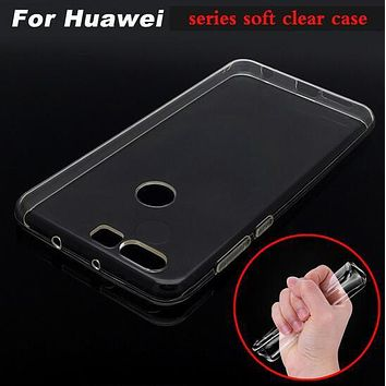 Transparent TPU ultra thin soft TPU Case for Huawei Ascend P7 P8 P9 P10 Lite Nova Plus Mate 9/Honor 4 4X 4C 5 6X 8 lite GR5 2017
