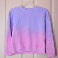 Ombre Crewneck by lhletsy on Etsy