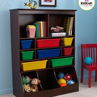 Kidkraft Espresso Wall Storage Unit with Bins