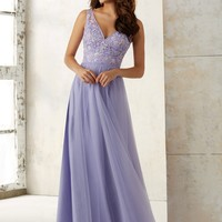 Morilee Bridesmaids 21521 Tank Embroidered Tulle Bridesmaids Dress