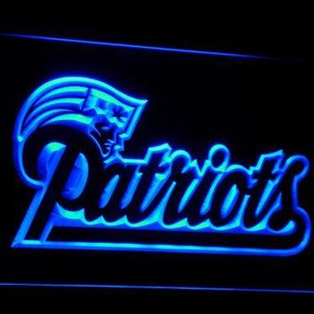 b071 New England Patriots Soccer LED Neon Sign with On/Off Switch 7 Colors 4 Sizes to choose