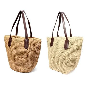 Straw Casual Beach Bag Travel Handbags Tote
